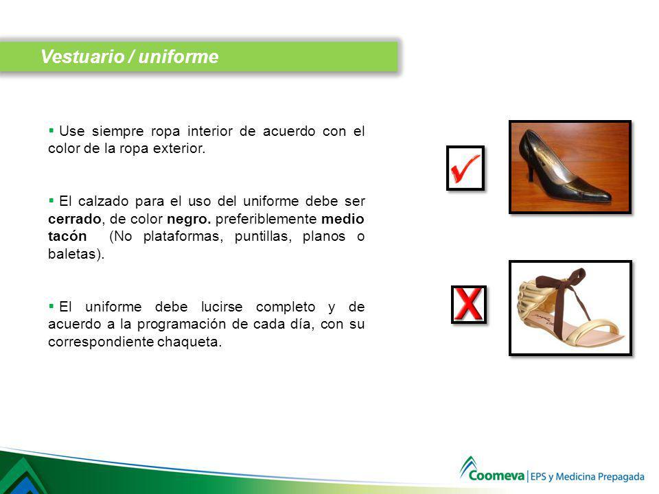 No es permitido utilizar: Jeans Ropa deportiva Calzado deportivo Gorras Bermudas Se puede utilizar un atuendo casual (pantalón dril, camisa manga corta, camibuso, etc.) más no deportivo.