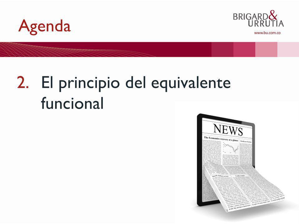 11 Agenda 2.El principio del equivalente funcional