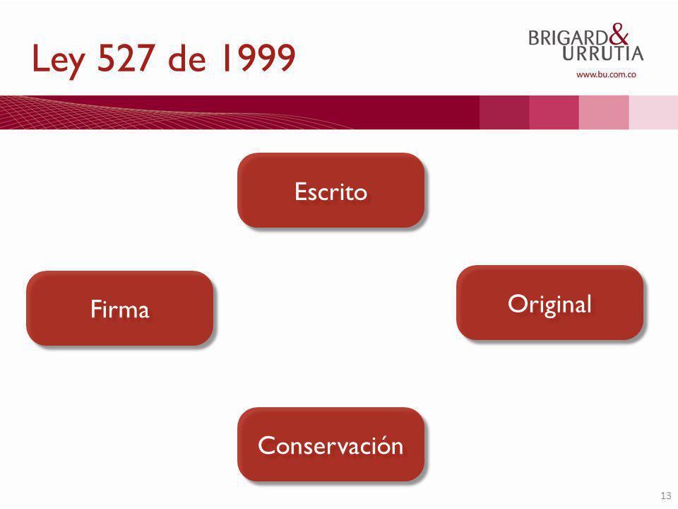 13 Escrito Firma Original Conservación Ley 527 de 1999