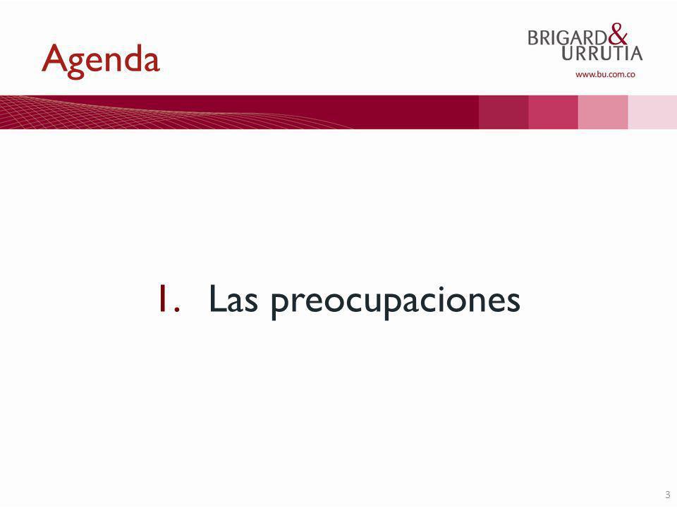 3 Agenda 1.Las preocupaciones
