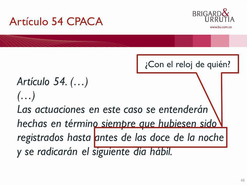 48 Artículo 54.