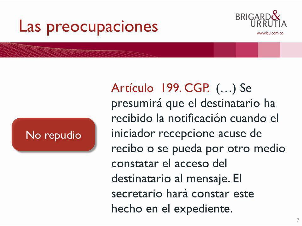 7 Las preocupaciones Artículo 199. CGP.