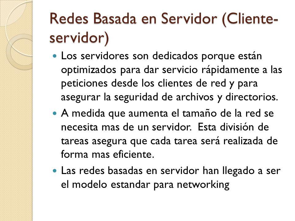 Los servidores son dedicados porque están optimizados para dar servicio rápidamente a las peticiones desde los clientes de red y para asegurar la segu