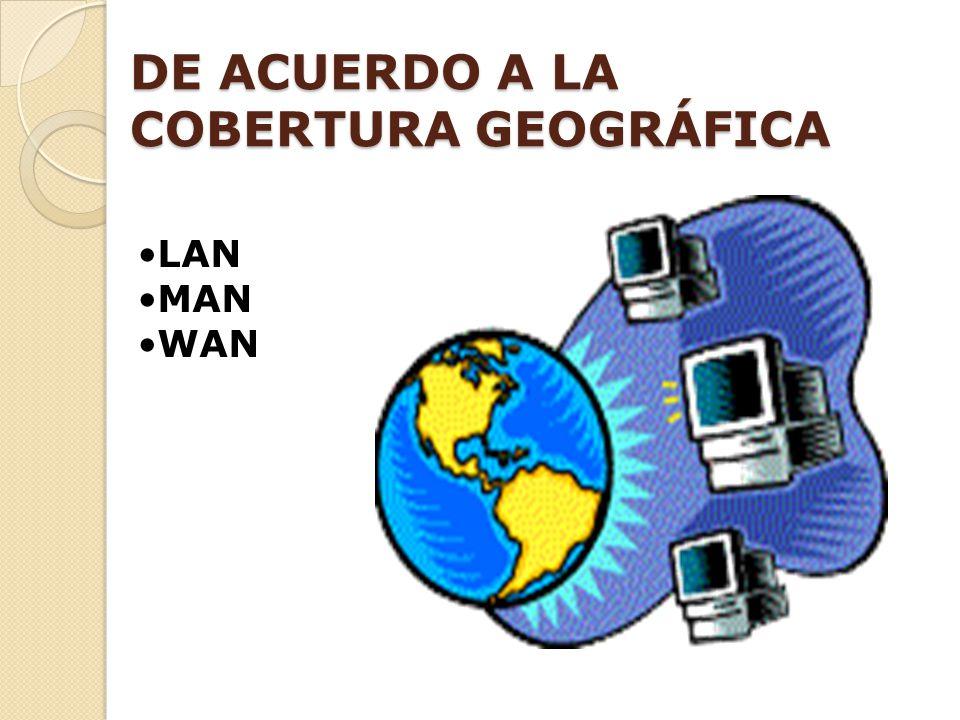 LAN MAN WAN DE ACUERDO A LA COBERTURA GEOGRÁFICA