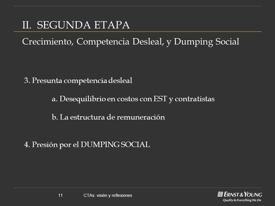 CTAs: visión y reflexiones11 II.