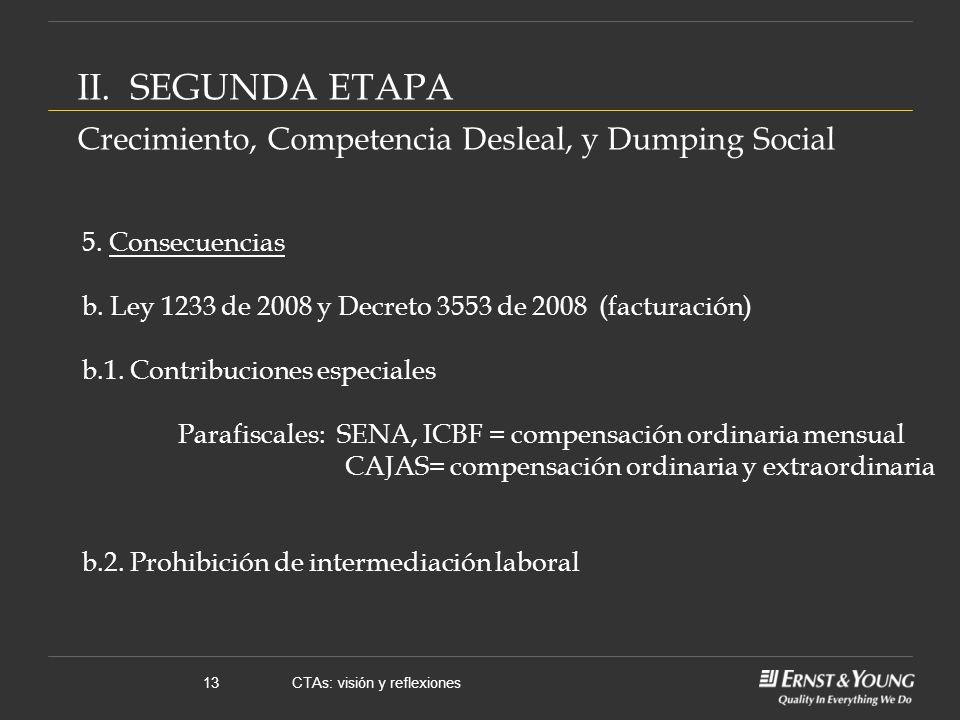 CTAs: visión y reflexiones13 5. Consecuencias b.