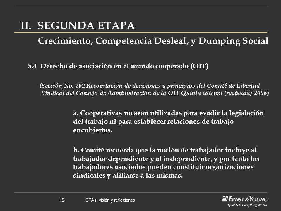 CTAs: visión y reflexiones15 II.