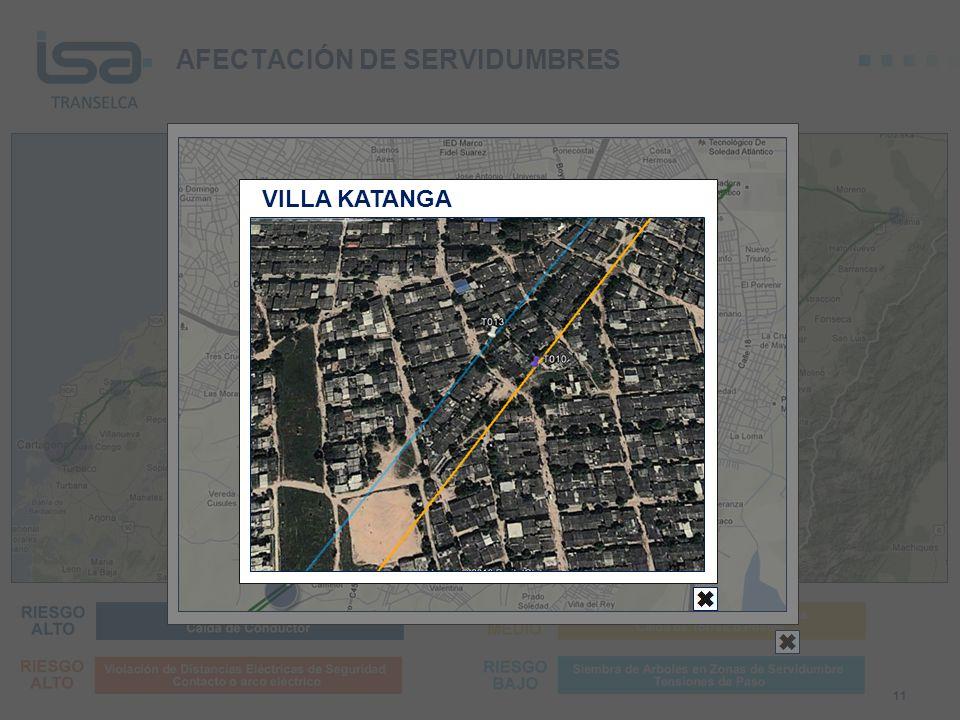 AFECTACIÓN DE SERVIDUMBRES 11 VILLA KATANGA