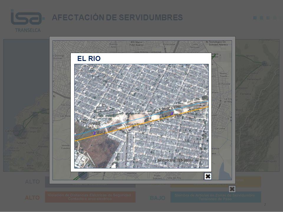 AFECTACIÓN DE SERVIDUMBRES 7 EL RIO