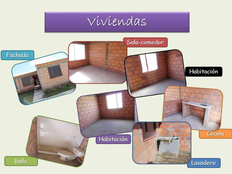 Cocina Lavadero Baño Habitación Sala-comedor ViviendasViviendas Fachada Habitación