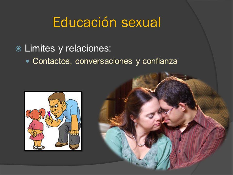 Educación sexual Limites y relaciones: Contactos, conversaciones y confianza