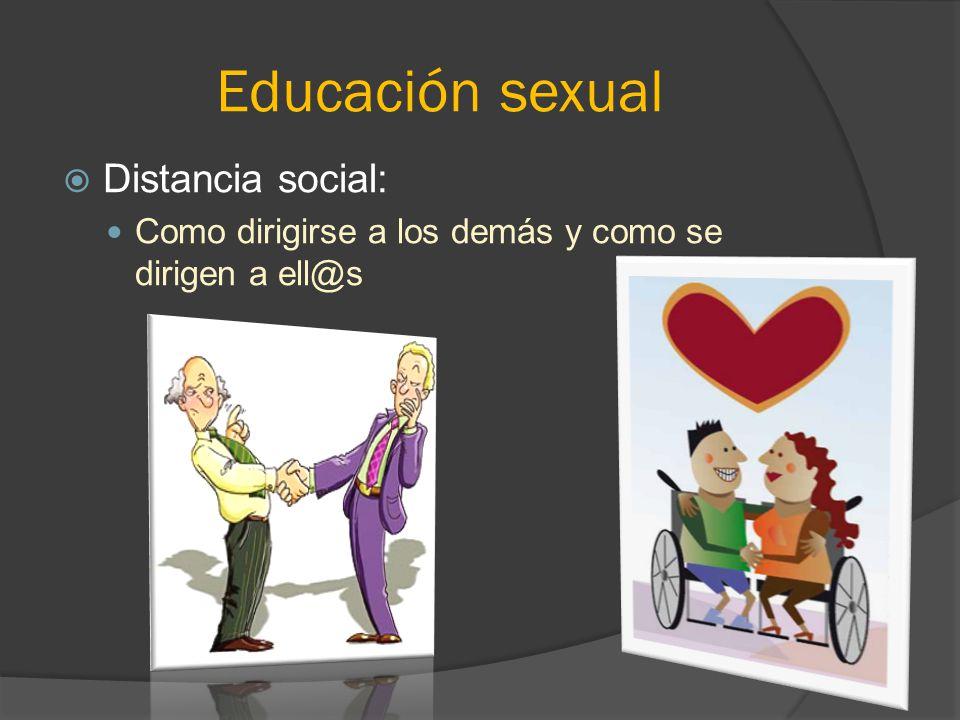 Educación sexual Distancia social: Como dirigirse a los demás y como se dirigen a ell@s
