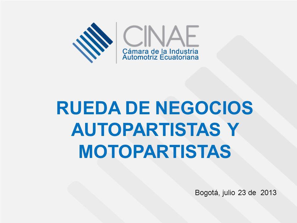 RUEDA DE NEGOCIOS AUTOPARTISTAS Y MOTOPARTISTAS Bogotá, julio 23 de 2013