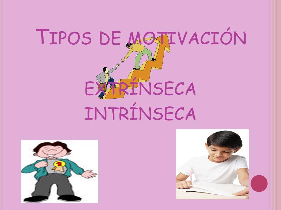T IPOS DE MOTIVACIÓN EXTRÍNSECA INTRÍNSECA