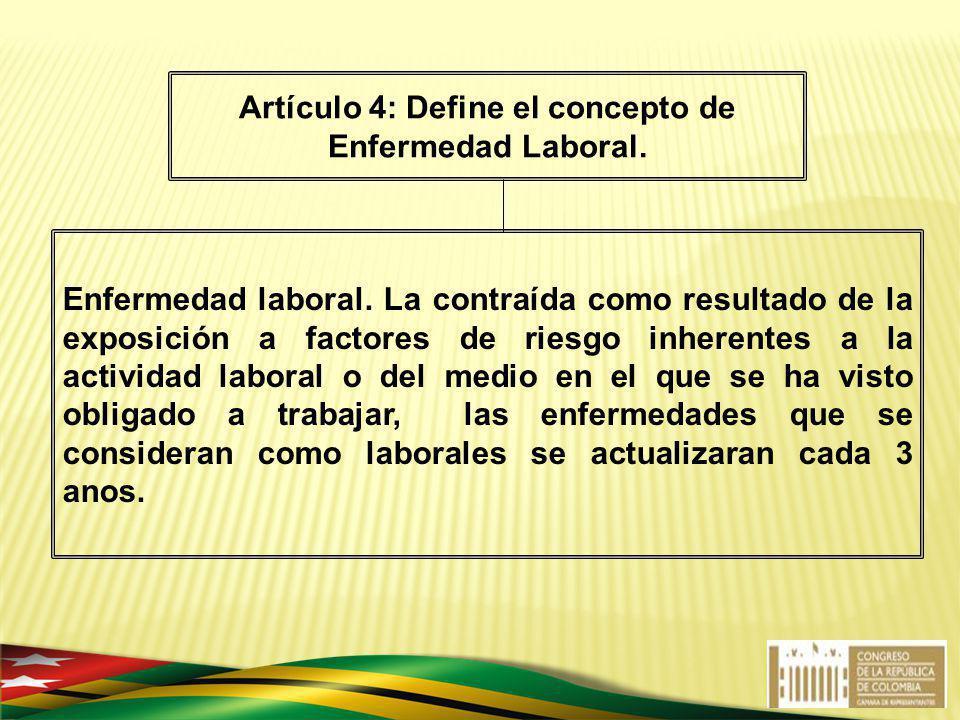 Enfermedad laboral. La contraída como resultado de la exposición a factores de riesgo inherentes a la actividad laboral o del medio en el que se ha vi