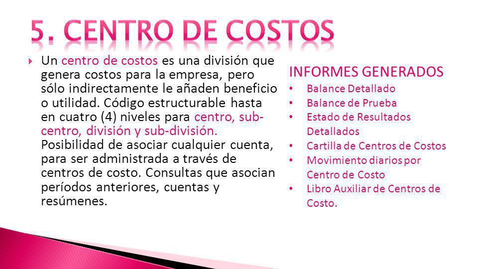 Un centro de costos es una división que genera costos para la empresa, pero sólo indirectamente le añaden beneficio o utilidad.