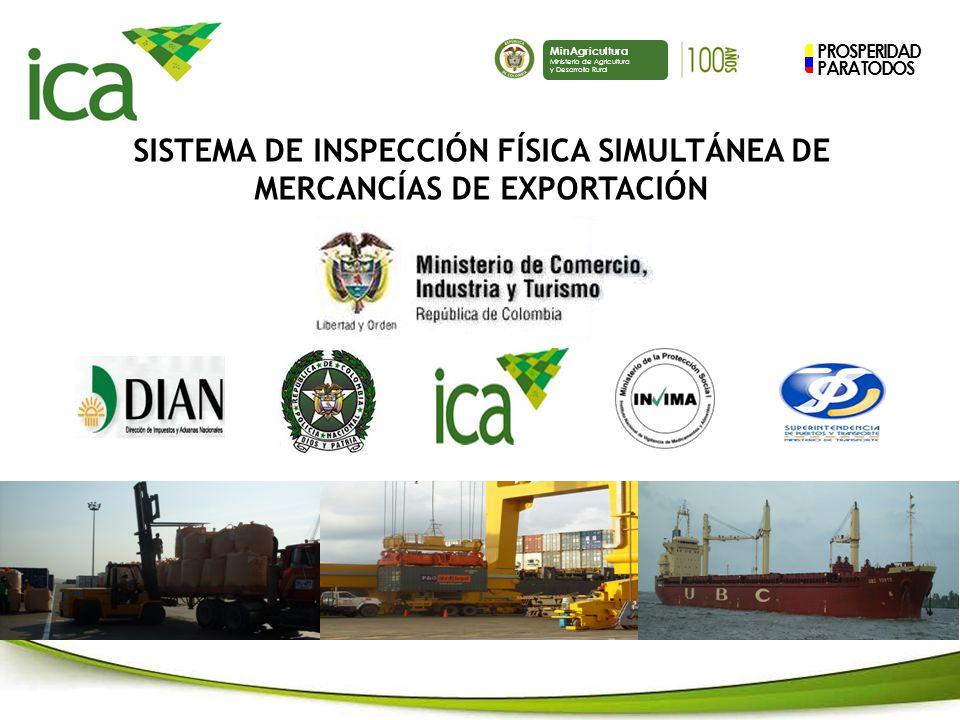 PROSPERIDAD PARA TODOS MinAgricultura Ministerio de Agricultura y Desarrollo Rural SISTEMA DE INSPECCIÓN FÍSICA SIMULTÁNEA DE MERCANCÍAS DE EXPORTACIÓN
