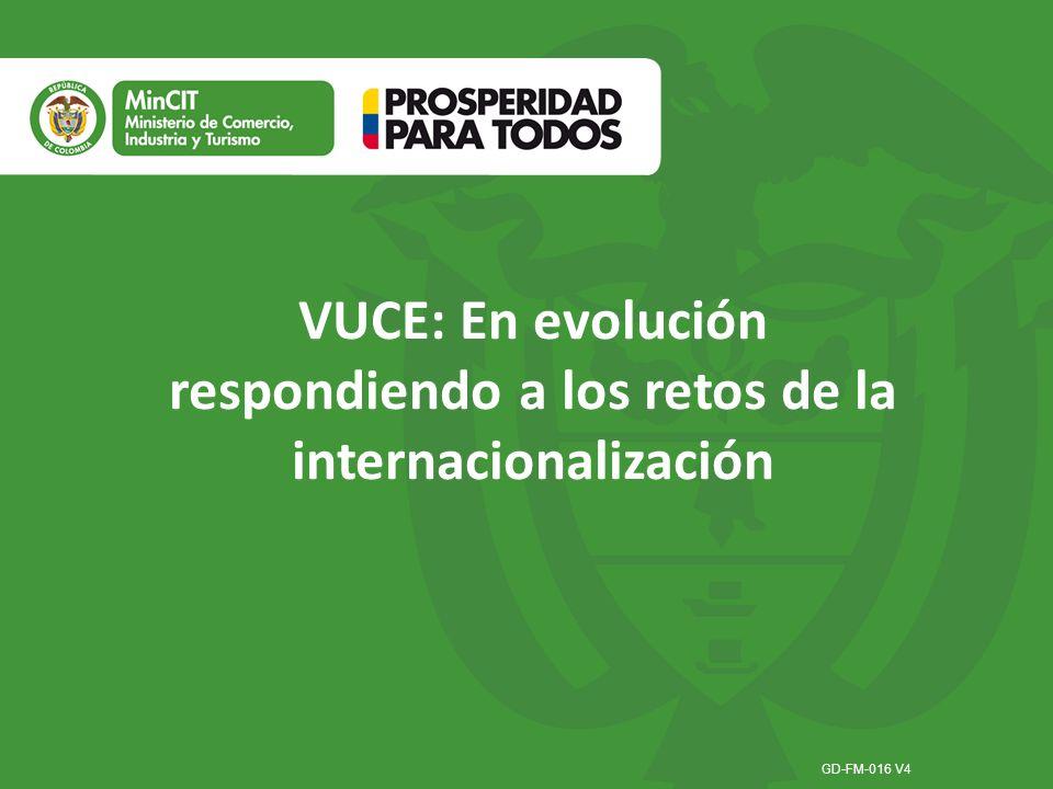 GD-FM-016 V4 VUCE: En evolución respondiendo a los retos de la internacionalización