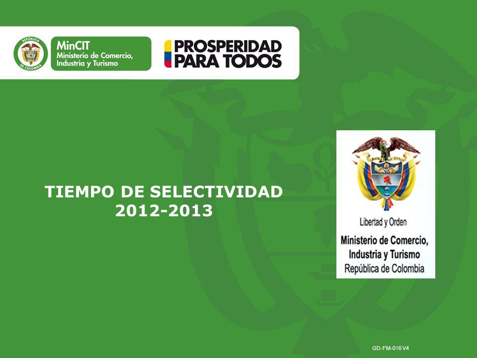TIEMPO DE SELECTIVIDAD 2012-2013 GD-FM-016 V4