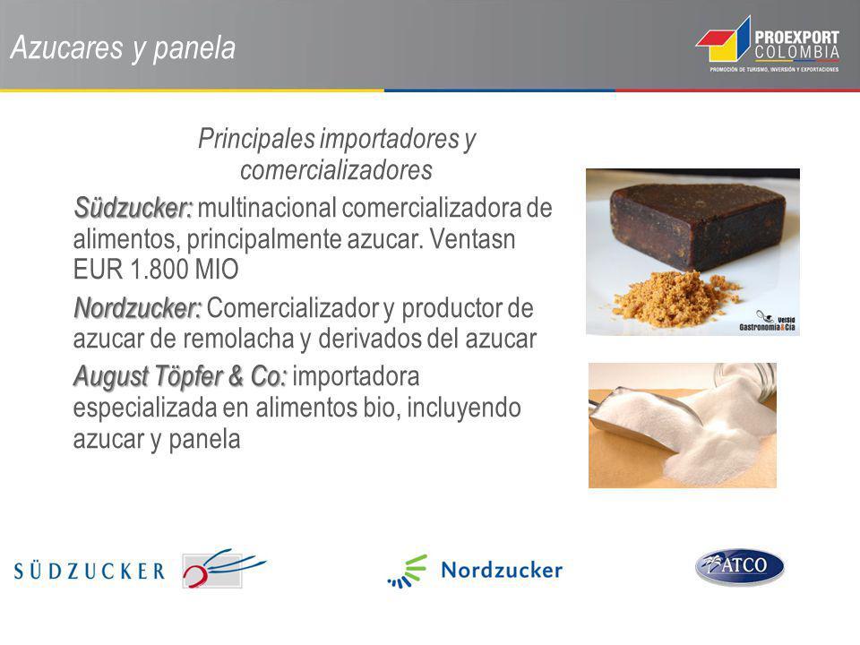 Azucares y panela Principales importadores y comercializadores Südzucker: Südzucker: multinacional comercializadora de alimentos, principalmente azuca