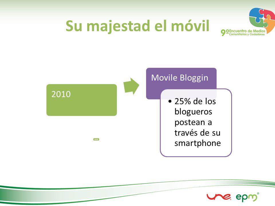 Su majestad el móvil 2010 Movile Bloggin 25% de los blogueros postean a través de su smartphone