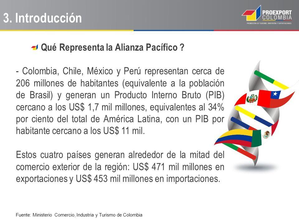 Qué Representa la Alianza Pacífico ? - Colombia, Chile, México y Perú representan cerca de 206 millones de habitantes (equivalente a la población de B