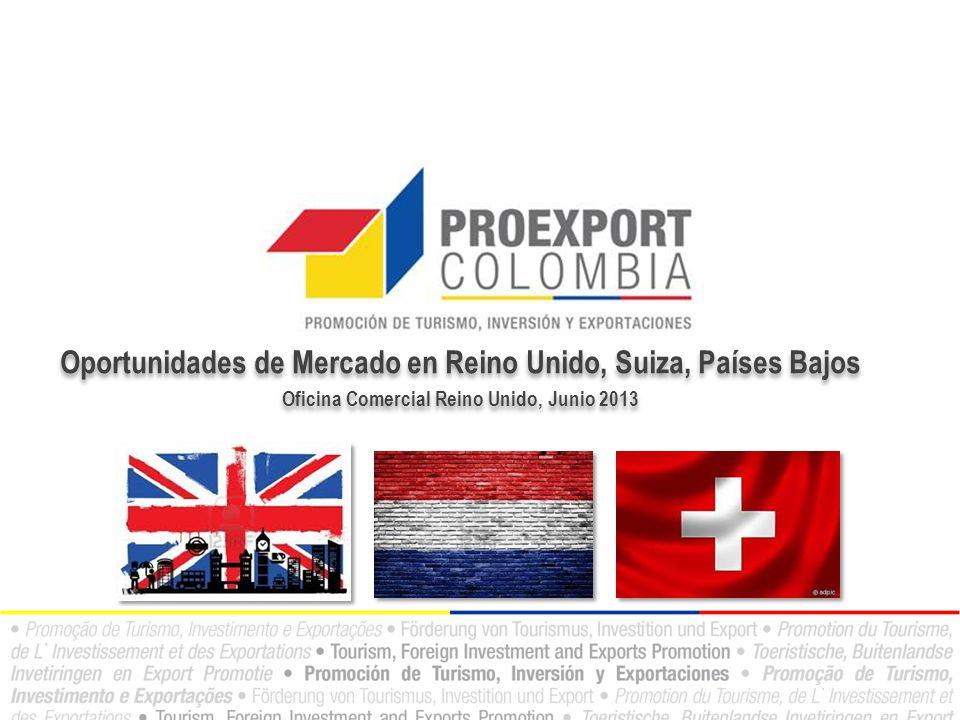 Oportunidades de Mercado en Reino Unido, Suiza, Países Bajos Oficina Comercial Reino Unido, Junio 2013 Oportunidades de Mercado en Reino Unido, Suiza, Países Bajos Oficina Comercial Reino Unido, Junio 2013