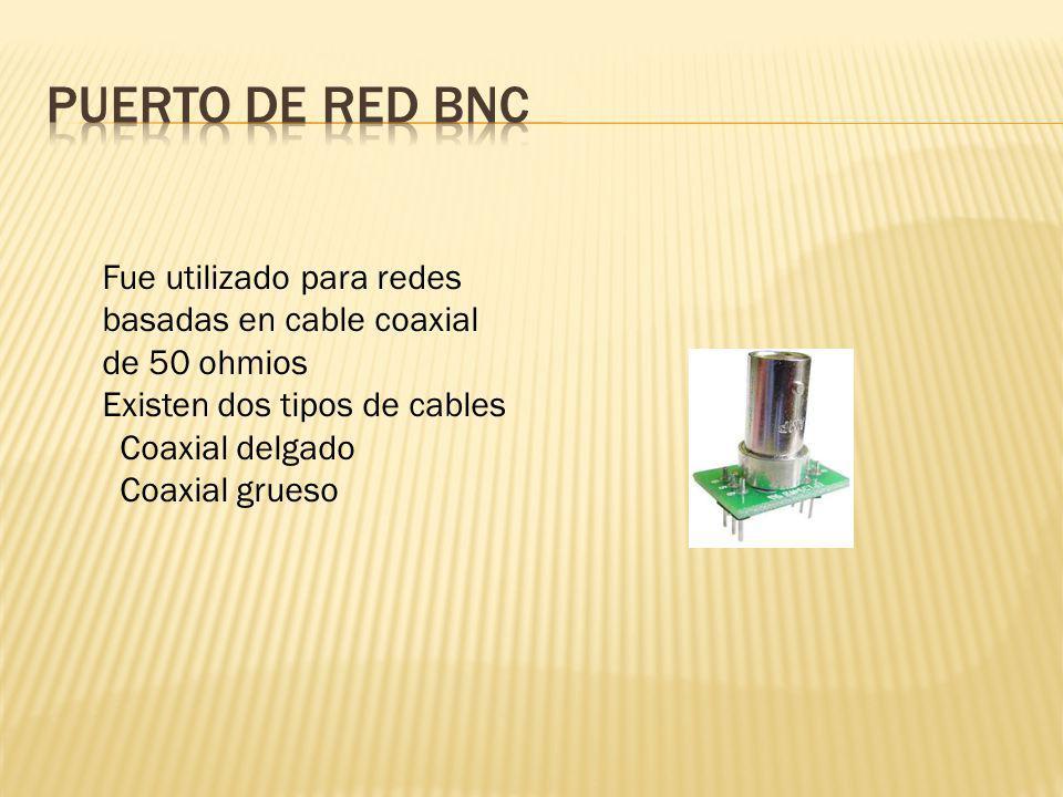 Fue utilizado para redes basadas en cable coaxial de 50 ohmios Existen dos tipos de cables Coaxial delgado Coaxial grueso