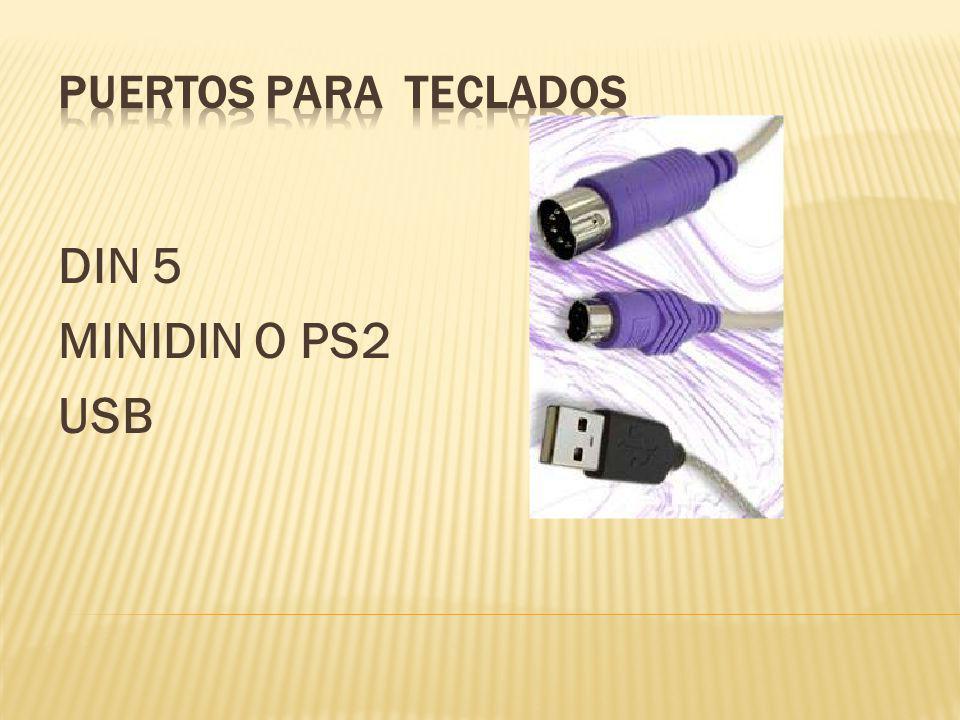 DIN 5 MINIDIN O PS2 USB