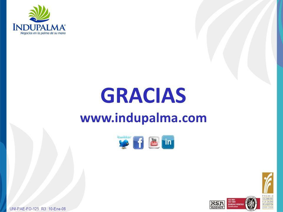 Haga clic para cambiar el estilo de título UNI-PAE-FO-125 R3 10-Ene-08 GRACIAS www.indupalma.com