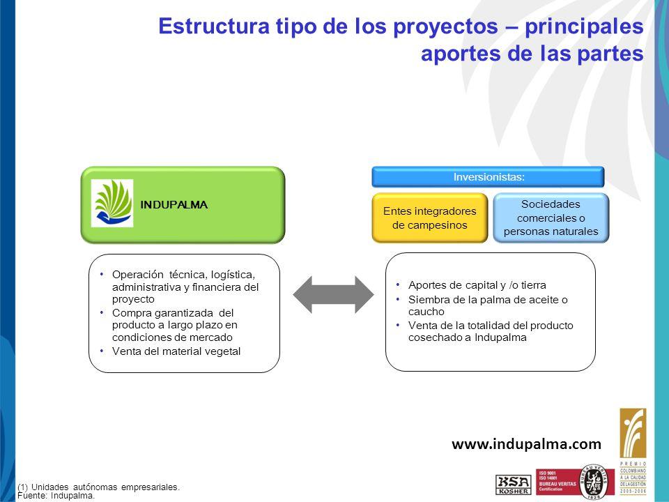 Haga clic para cambiar el estilo de título UNI-PAE-FO-125 R3 10-Ene-08 Estructura tipo de los proyectos – principales aportes de las partes Inversioni