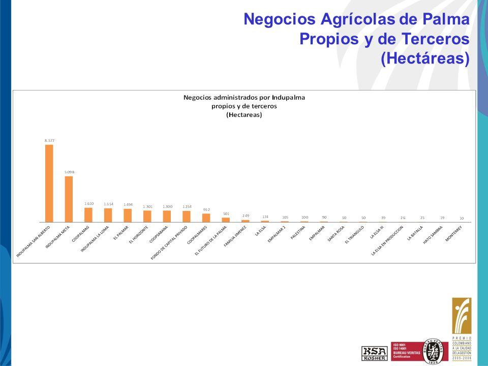 Haga clic para cambiar el estilo de título UNI-PAE-FO-125 R3 10-Ene-08 Negocios Agrícolas de Palma Propios y de Terceros (Hectáreas)