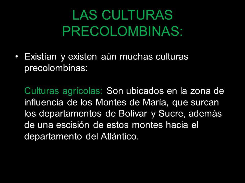 LAS CULTURAS PRECOLOMBINAS: Existían y existen aún muchas culturas precolombinas: Culturas agrícolas: Son ubicados en la zona de influencia de los Mon