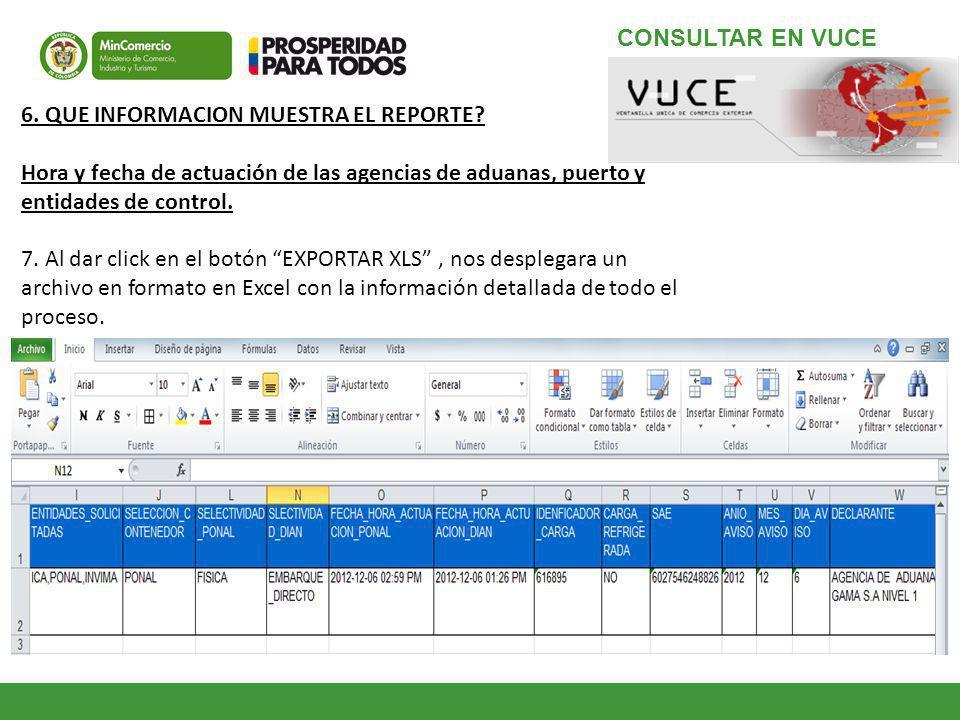 6.QUE INFORMACION MUESTRA EL REPORTE.