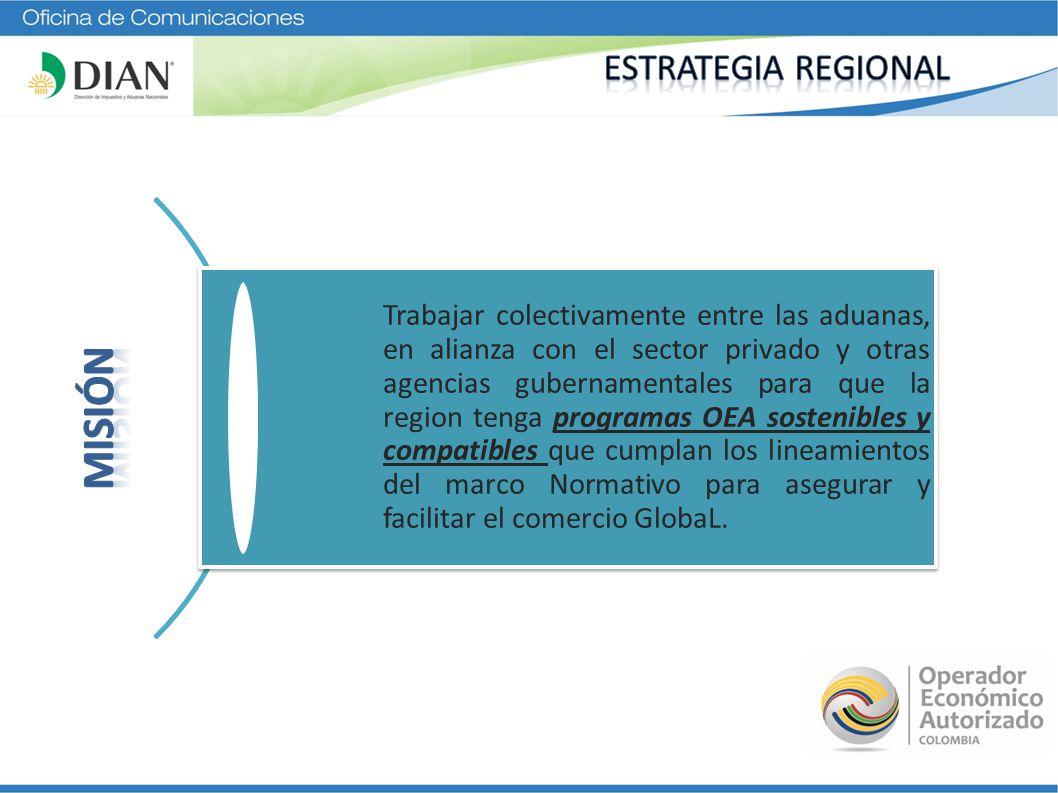 Trabajar colectivamente entre las aduanas, en alianza con el sector privado y otras agencias gubernamentales para que la region tenga programas OEA so