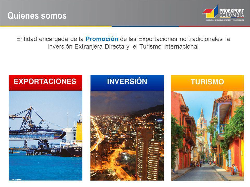 Quienes somos Entidad encargada de la Promoción de las Exportaciones no tradicionales la Inversión Extranjera Directa y el Turismo Internacional