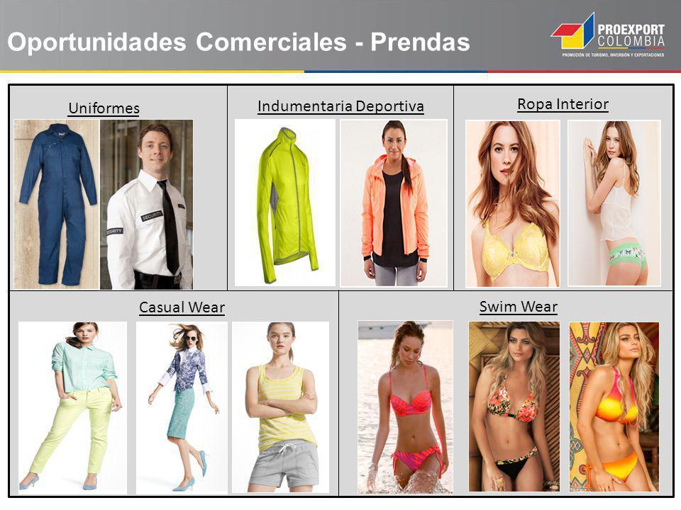 Oportunidades Comerciales - Prendas Uniformes Indumentaria Deportiva Ropa Interior Casual Wear Swim Wear
