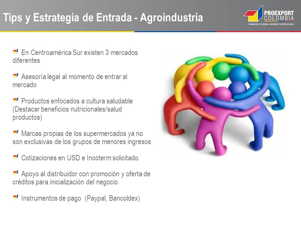 Tips y Estrategia de Entrada - Agroindustria En Centroamérica Sur existen 3 mercados diferentes Asesoría legal al momento de entrar al mercado Product