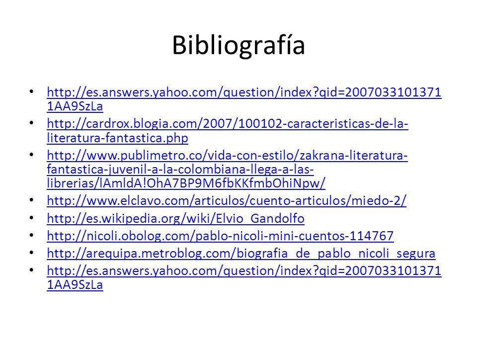 Bibliografía http://es.answers.yahoo.com/question/index?qid=2007033101371 1AA9SzLa http://es.answers.yahoo.com/question/index?qid=2007033101371 1AA9Sz