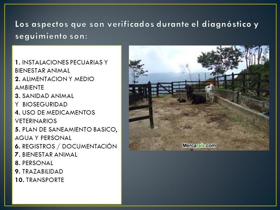 1. INSTALACIONES PECUARIAS Y BIENESTAR ANIMAL 2. ALIMENTACION Y MEDIO AMBIENTE 3. SANIDAD ANIMAL Y BIOSEGURIDAD 4. USO DE MEDICAMENTOS VETERINARIOS 5.