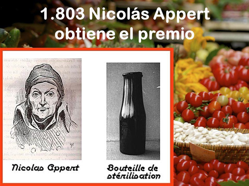 1.803 Nicolás Appert obtiene el premio