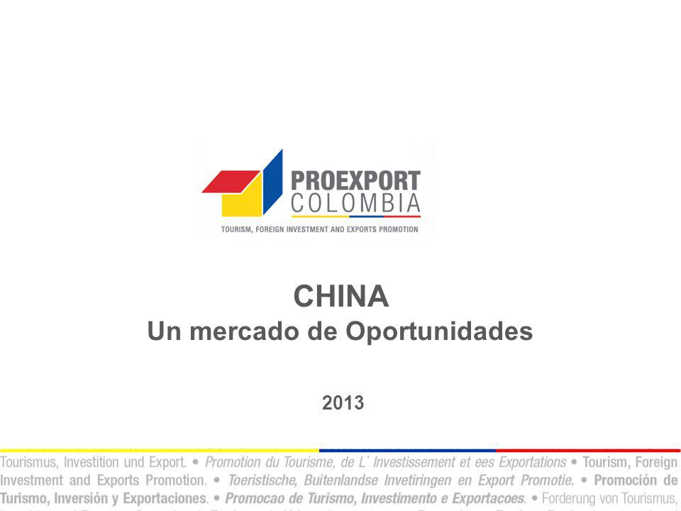 CHINA Un mercado de Oportunidades 2013