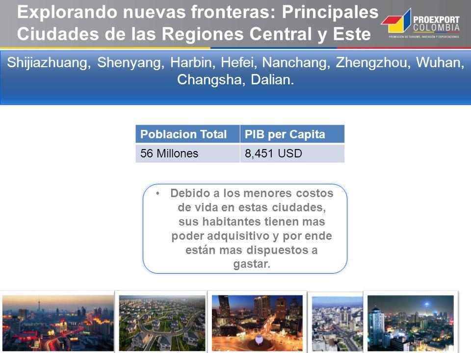 Explorando nuevas fronteras: Principales Ciudades de las Regiones Central y Este Shijiazhuang, Shenyang, Harbin, Hefei, Nanchang, Zhengzhou, Wuhan, Ch