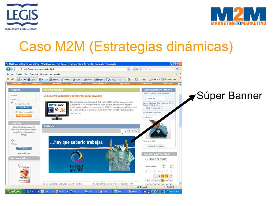 Caso M2M (Estrategias dinámicas) Súper Banner