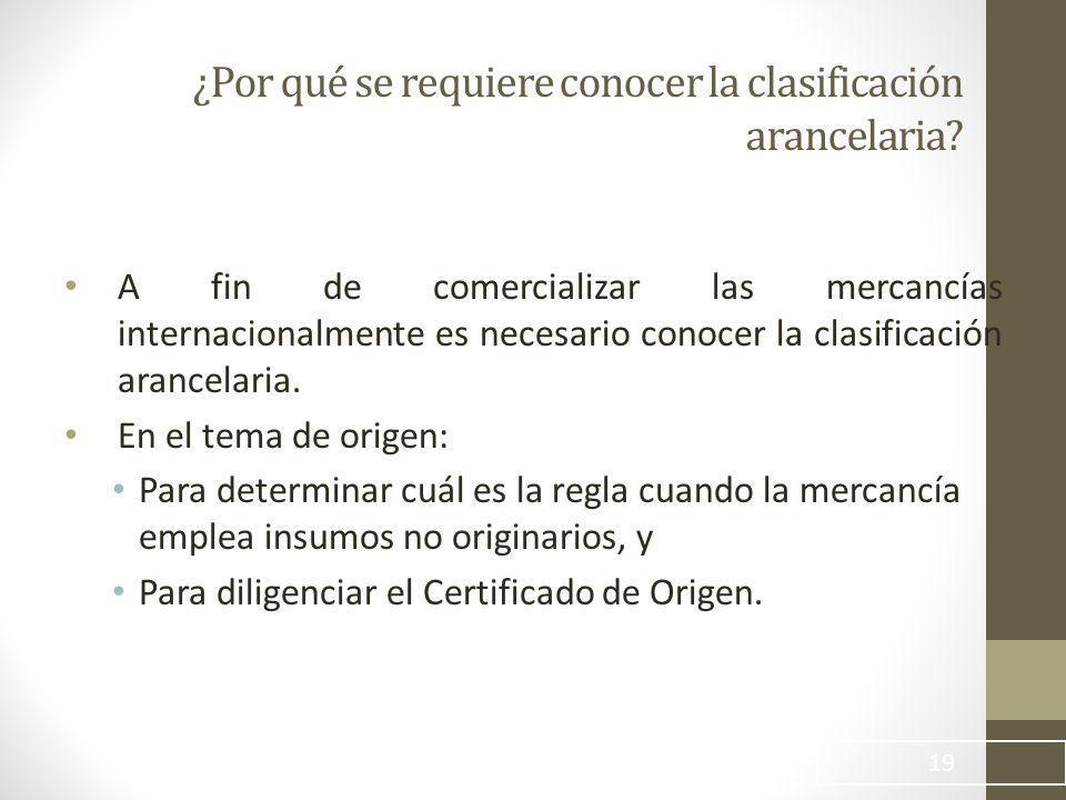 ¿Por qué se requiere conocer la clasificación arancelaria.