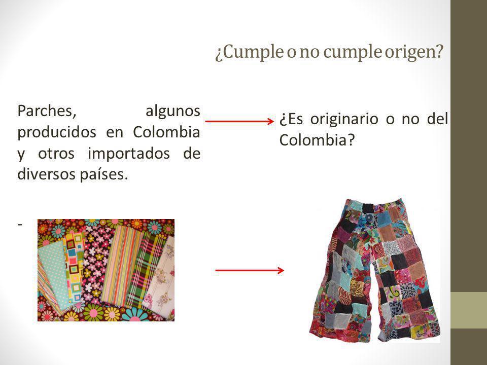 87 ReglaLos tejidos angostos deben ser elaborados en Colombia o EE.UU.