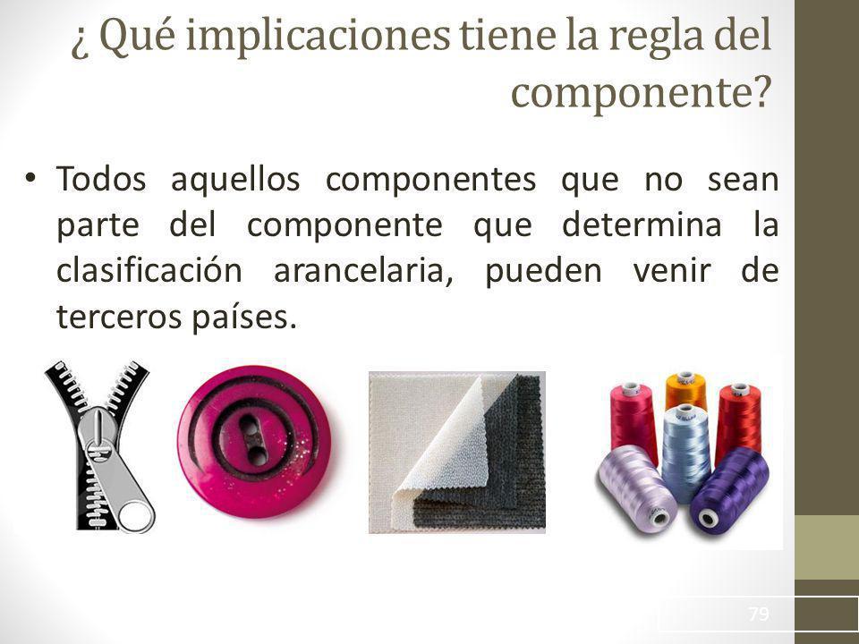¿ Qué implicaciones tiene la regla del componente.