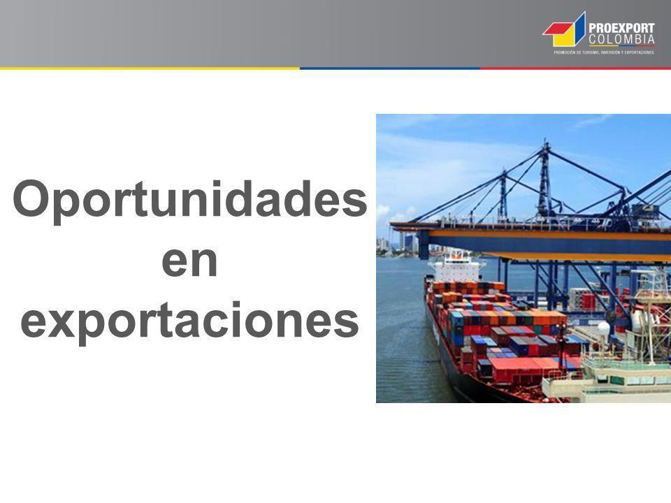 Oportunidades en exportaciones