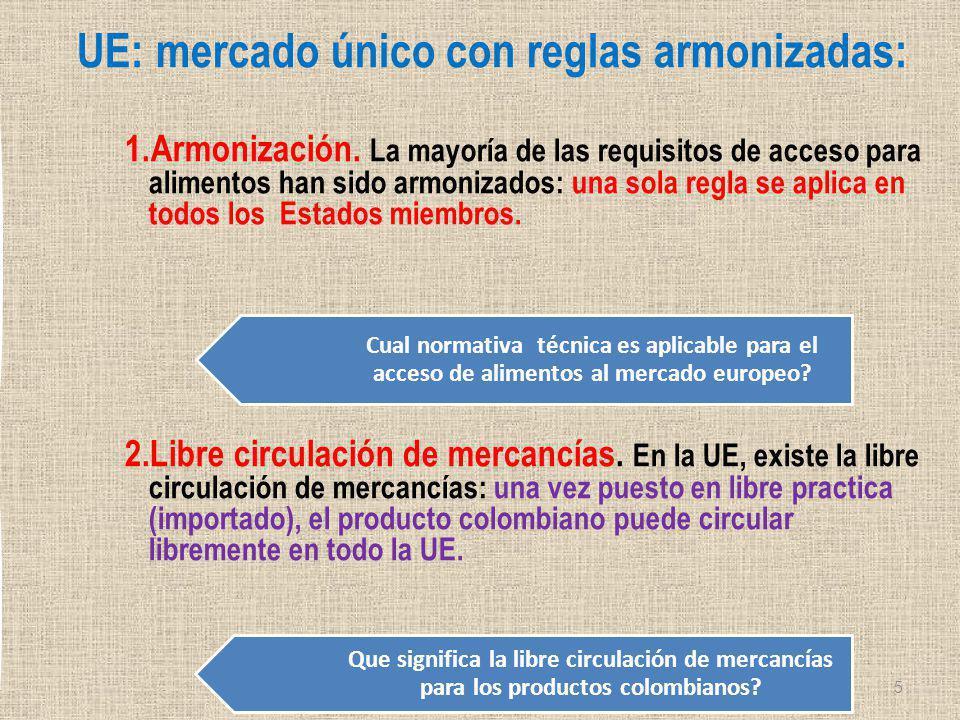 Reglas armonizadas: Directivas + Reglamentos + Decisiones: Una vez que el producto cumple: puede circular libremente en todos los Estados miembros de la UE.
