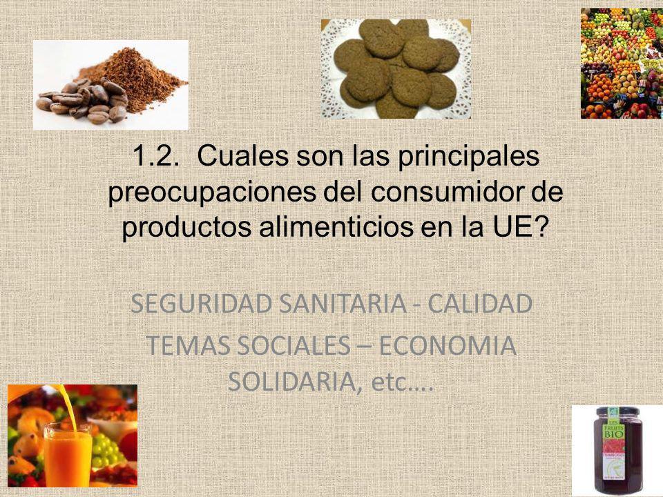 Principales certificaciones para alimentos ( Ej.Productos pesca - café ) Estandar/NormaQue hace.